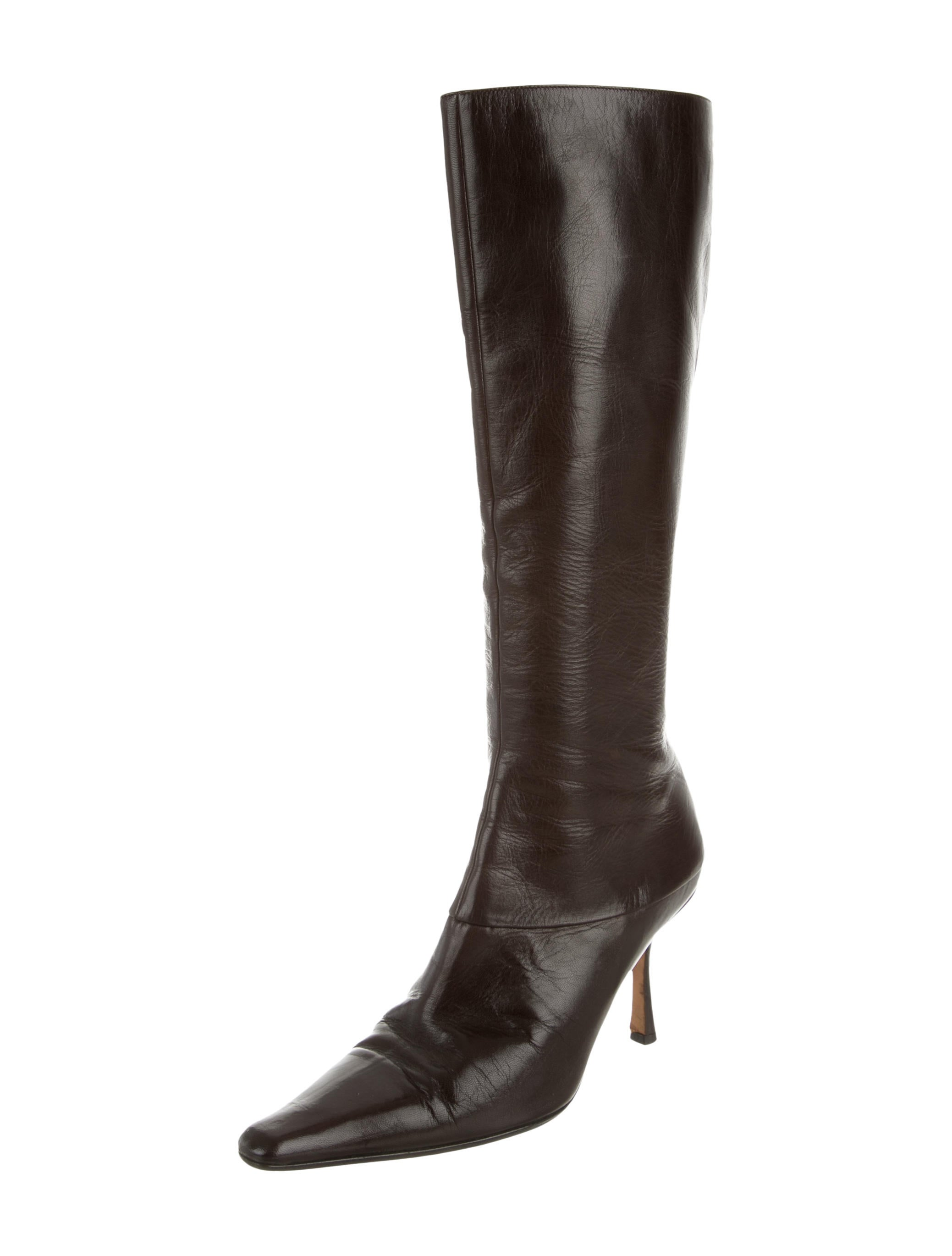 jimmy choo leather knee high boots shoes jim47170