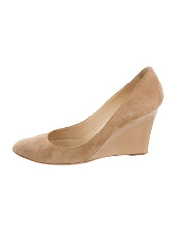 Jimmy Choo Suede Round-Toe Wedges None