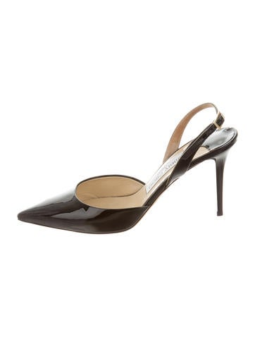 Jimmy Choo Patent Leather Slingback Pumps None