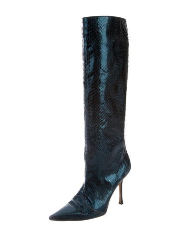 jimmy choo snakeskin knee high boots shoes jim53116