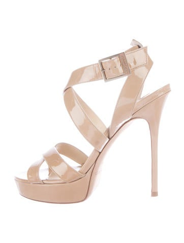 Jimmy Choo Patent Leather Multistrap Sandals None