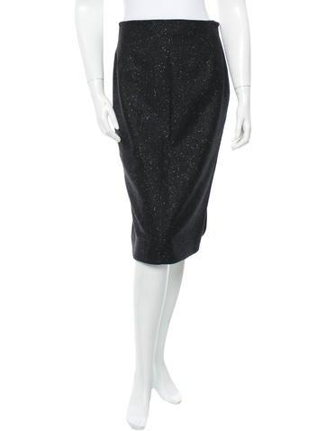 John Galliano Wool Skirt None