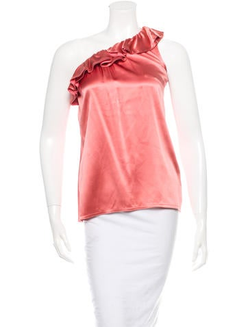 Joseph One-Shoulder Silk Top None