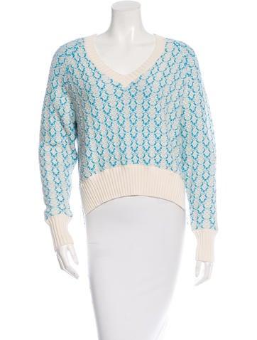 Joseph High-Low Knit Sweater None