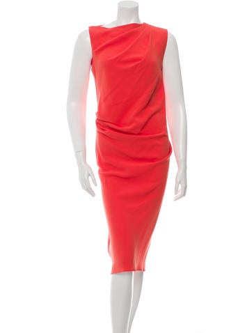 Joseph Sleeveless Midi Dress None