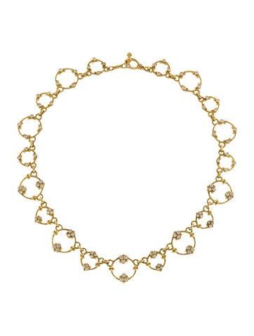 Judith Ripka Diamond Garland Necklace