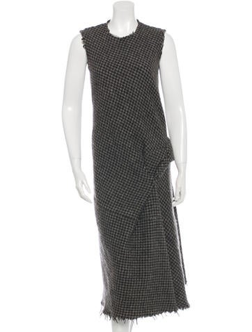 Junya Watanabe Tweed Wool Dress None