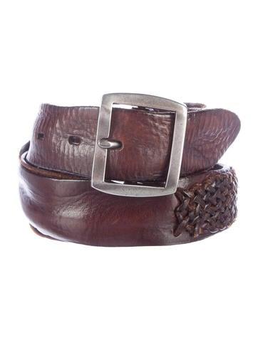 John Varvatos Distressed Woven Belt
