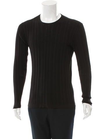 John Varvatos Ribbed Knit Shirt None