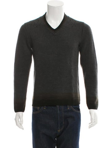John Varvatos Wool V-Neck Sweater None