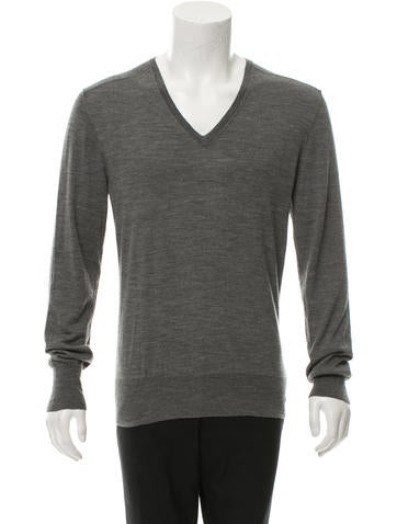 John Varvatos Merino Wool V-Neck Sweater None
