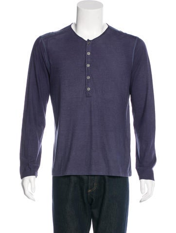 John Varvatos Long Sleeve Henley T-Shirt None