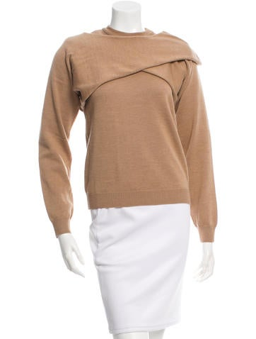 J.W. Anderson Wool Draped Sweater None