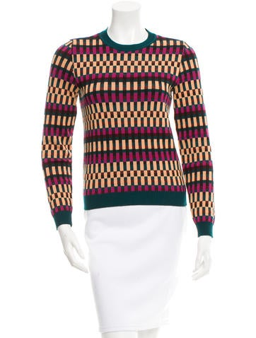 Kenzo Printed Wool-Blend Sweater None