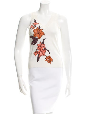 Kenzo Floral Open Knit Top None