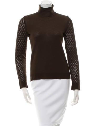 Kenzo Turtleneck Open-Knit Sweater None