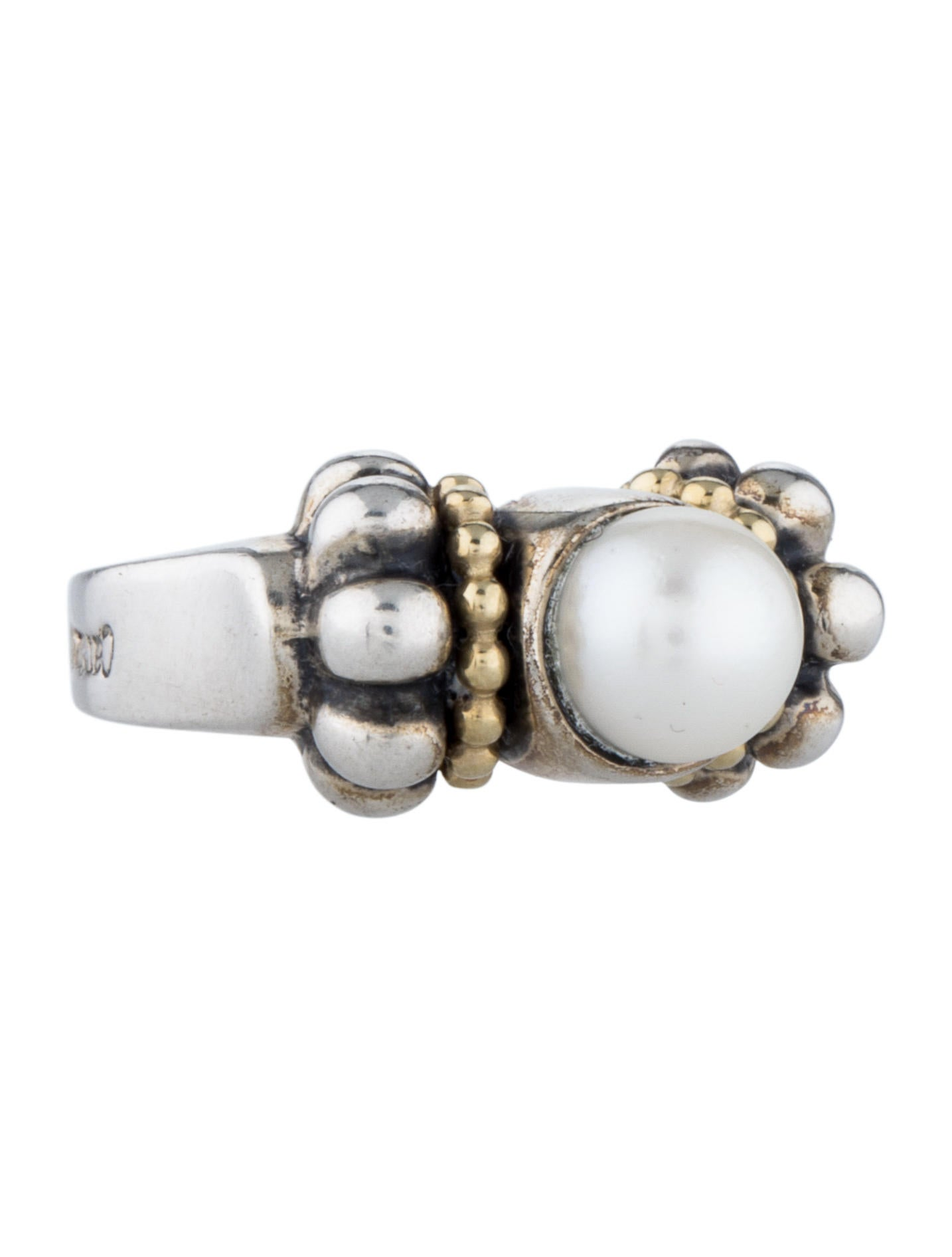lagos caviar pearl ring rings lag20942 the realreal