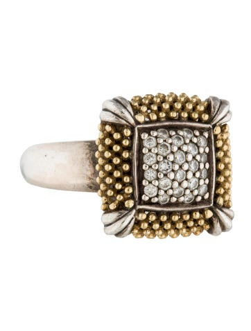 Lagos Two-Tone Diamond Square Ring