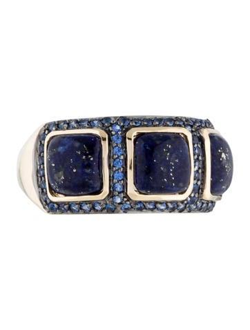 LALI Jewels 14K Lapis Lazuli & Blue Sapphire Ring