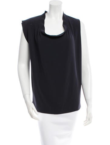 Lanvin Sleeveless Cowl Neck Top w/ Tags None