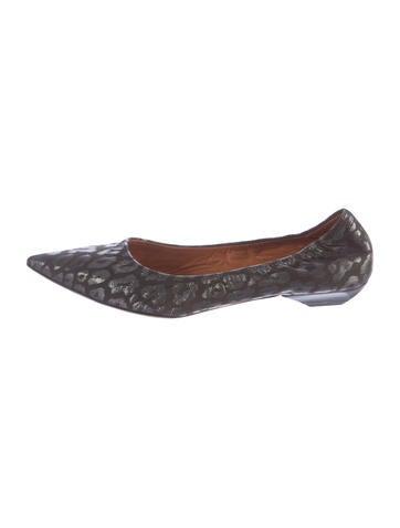 Lanvin Leopard Pointed-Toe Flats