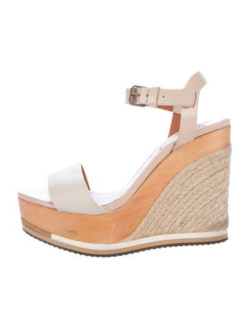 Lanvin Leather Platform Wedges None