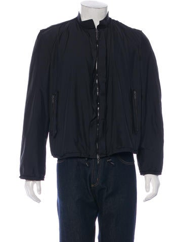 Lanvin Distressed-Trimmed Bomber Jacket None
