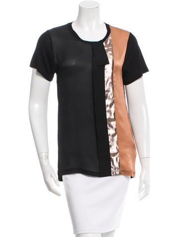 Lanvin Silk Colorblock Top None