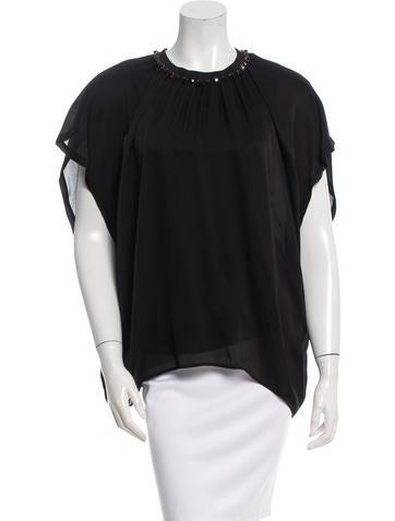 Lanvin Embellished Silk Blouse None