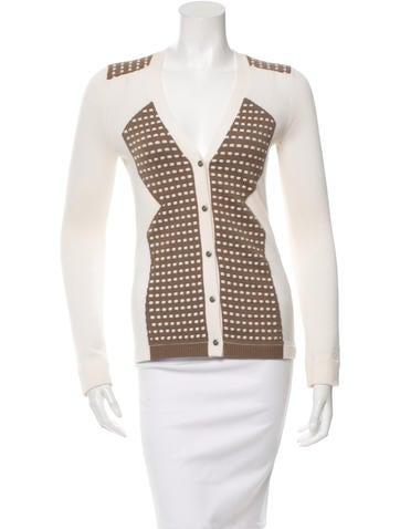 Lela Rose Patterned Wool-Blend Cardigan None