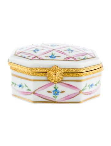 Limoges Hand-Painted Porcelain Box None