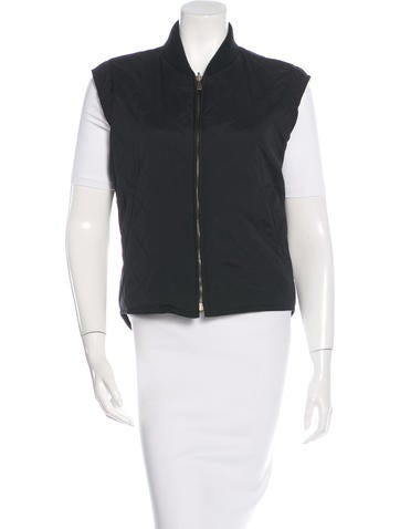 Loro Piana Rib-Knit Trimmed Quilted Vest None