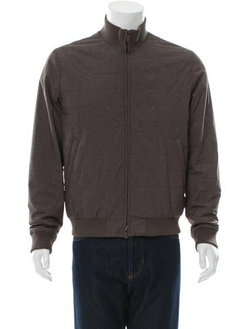 Loro Piana Rib Knit-Trimmed Bomber Jacket None