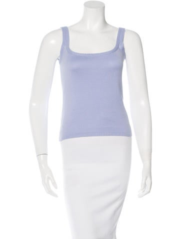 Loro Piana Rib Knit Sleeveless Top None