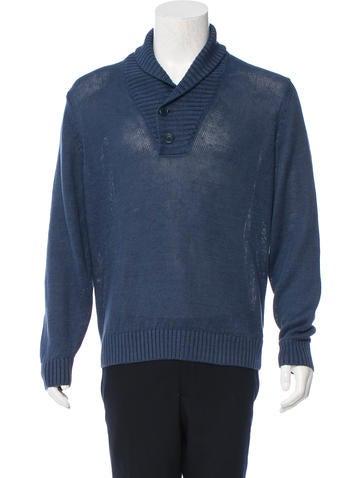 Loro Piana Shawl Collar Linen Sweater None