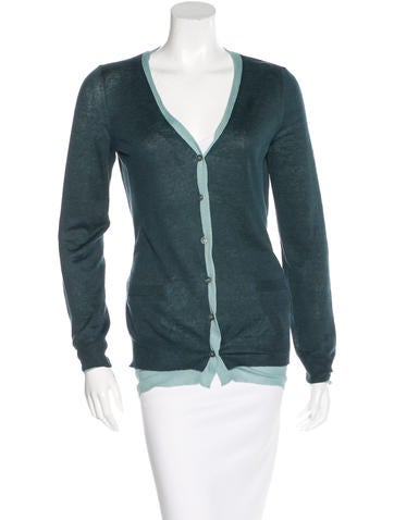 Loro Piana Long Sleeve Rib Knit Cardigan None