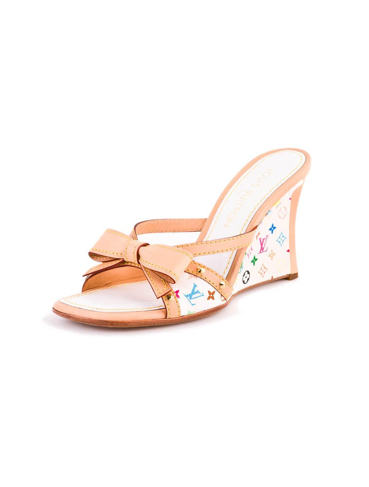 louis vuitton sandal wedges shoes lou01957 the realreal