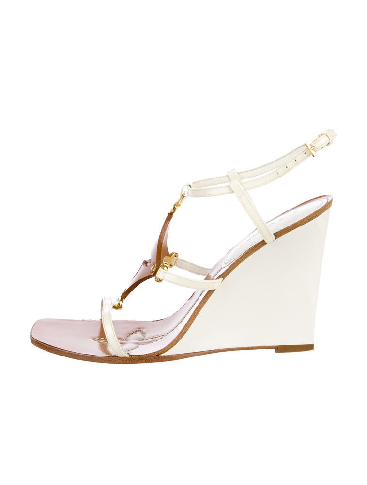 louis vuitton wedge sandals shoes lou25222 the realreal