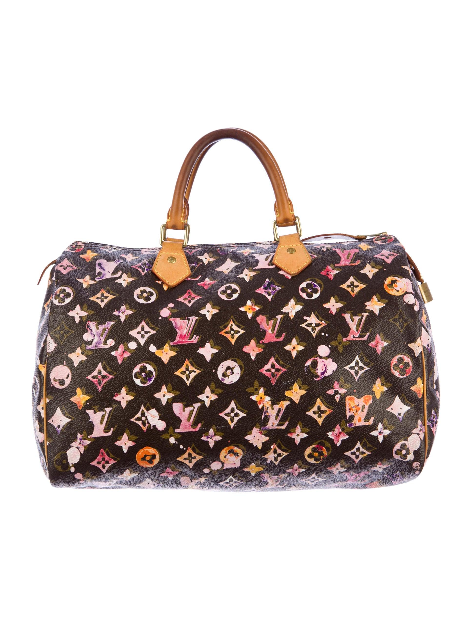 louis vuitton aquarelle speedy 35 handbags lou31271. Black Bedroom Furniture Sets. Home Design Ideas