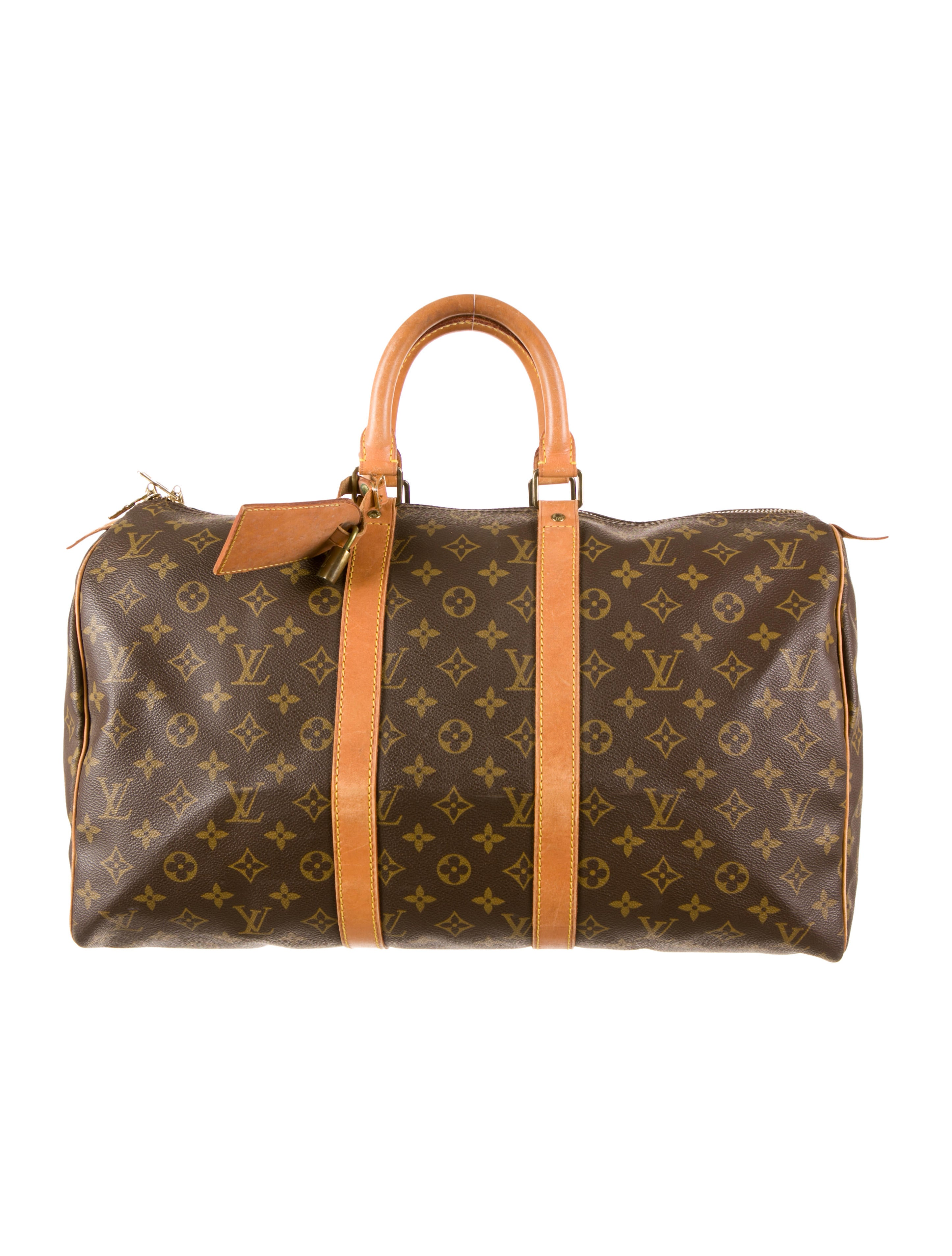 louis vuitton keepall 45 mens bags lou47527 the realreal. Black Bedroom Furniture Sets. Home Design Ideas