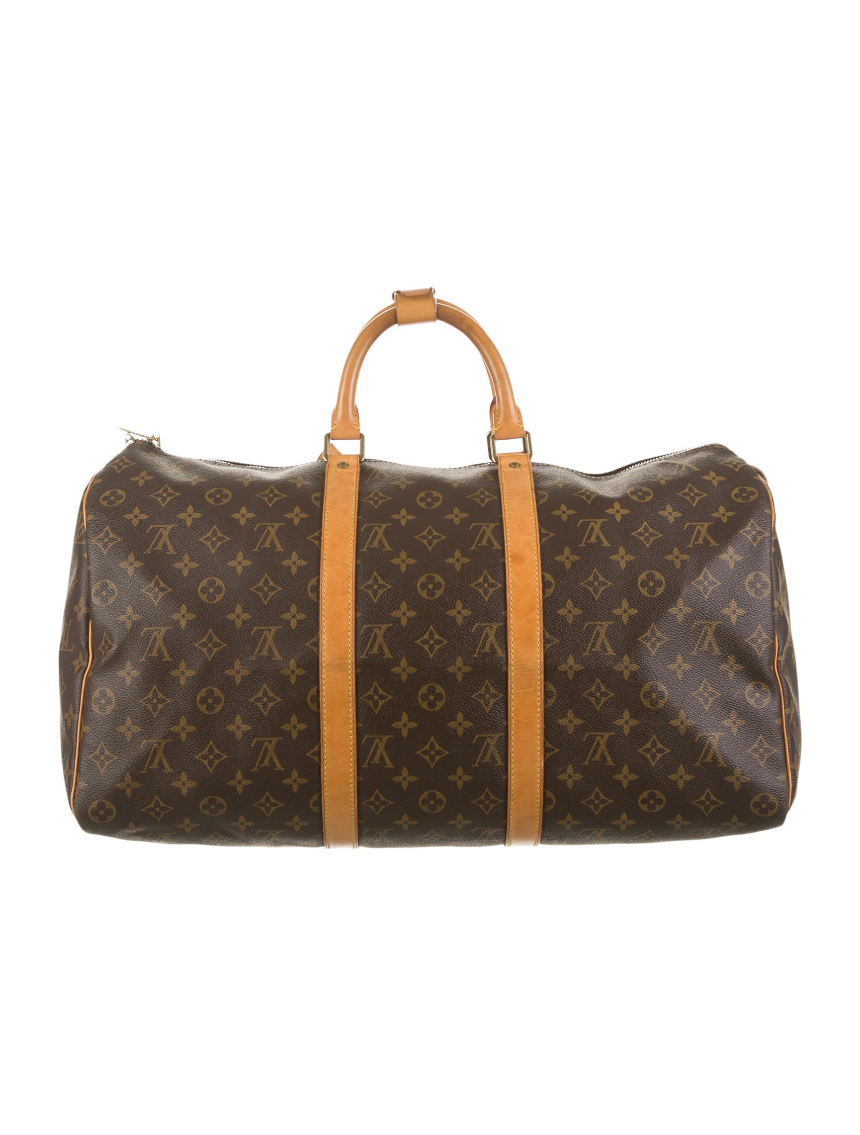 louis vuitton keepall 50 luggage lou47667 the realreal. Black Bedroom Furniture Sets. Home Design Ideas