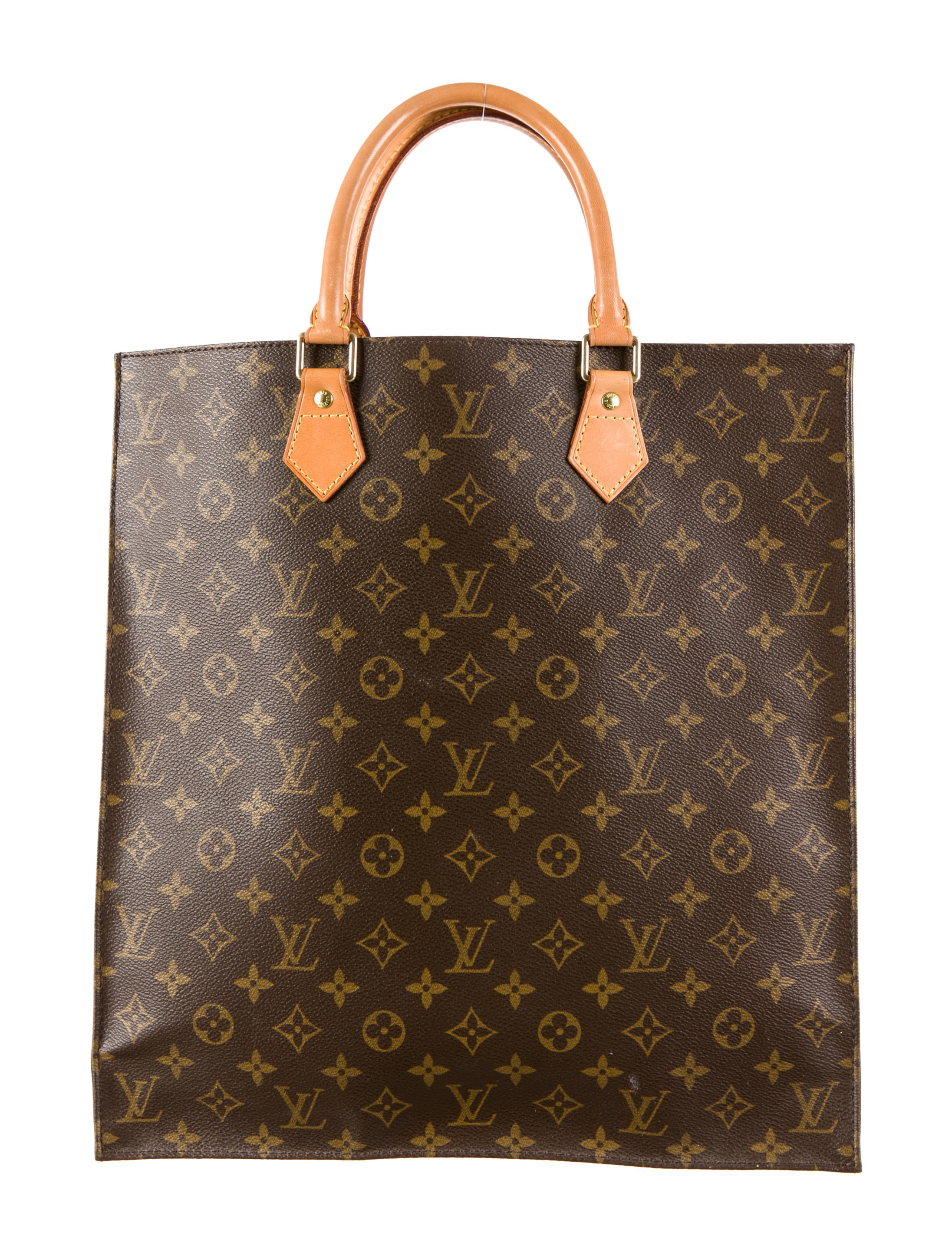 louis vuitton sac plat tote handbags lou49113 the realreal. Black Bedroom Furniture Sets. Home Design Ideas