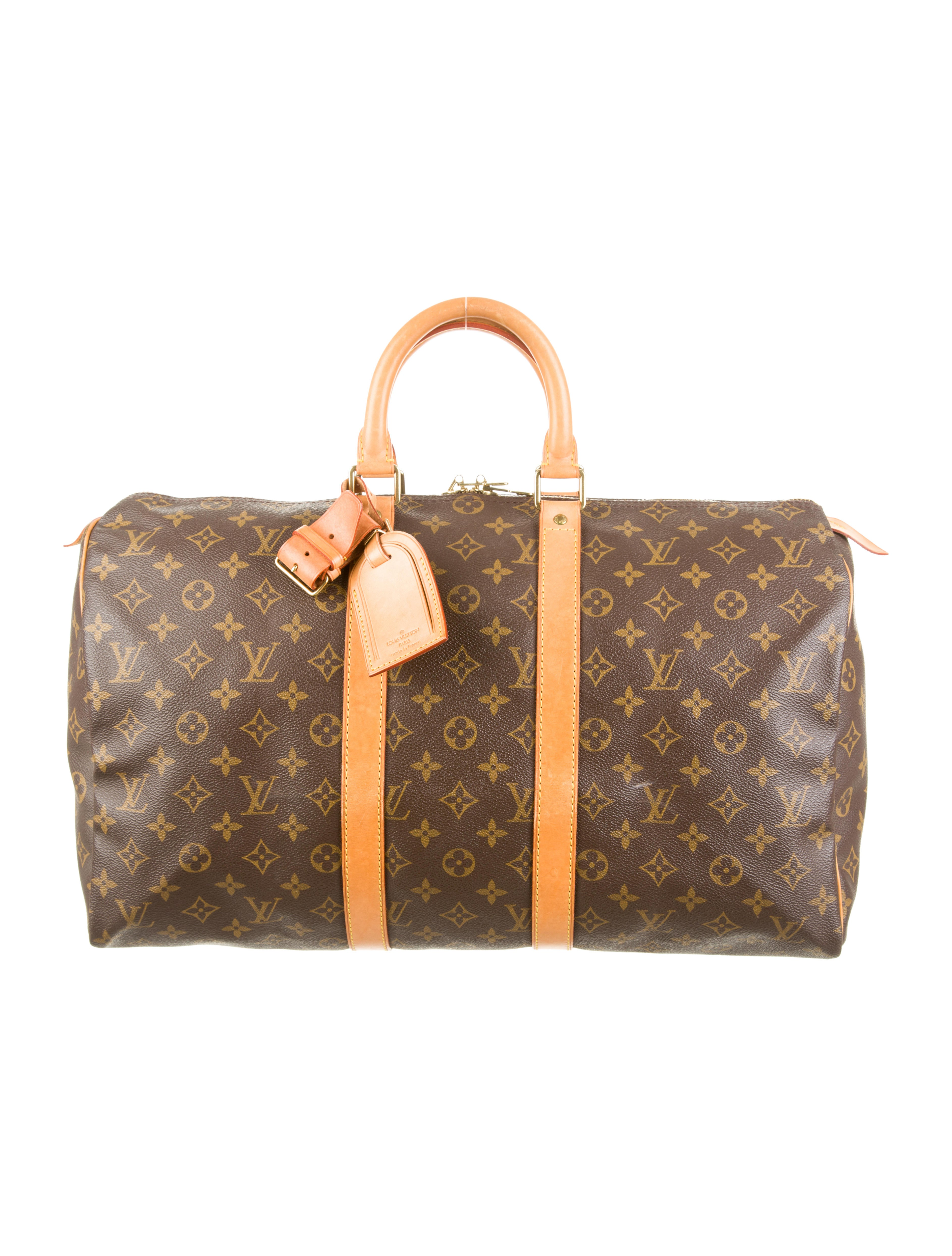 louis vuitton keepall 45 handbags lou55056 the realreal. Black Bedroom Furniture Sets. Home Design Ideas