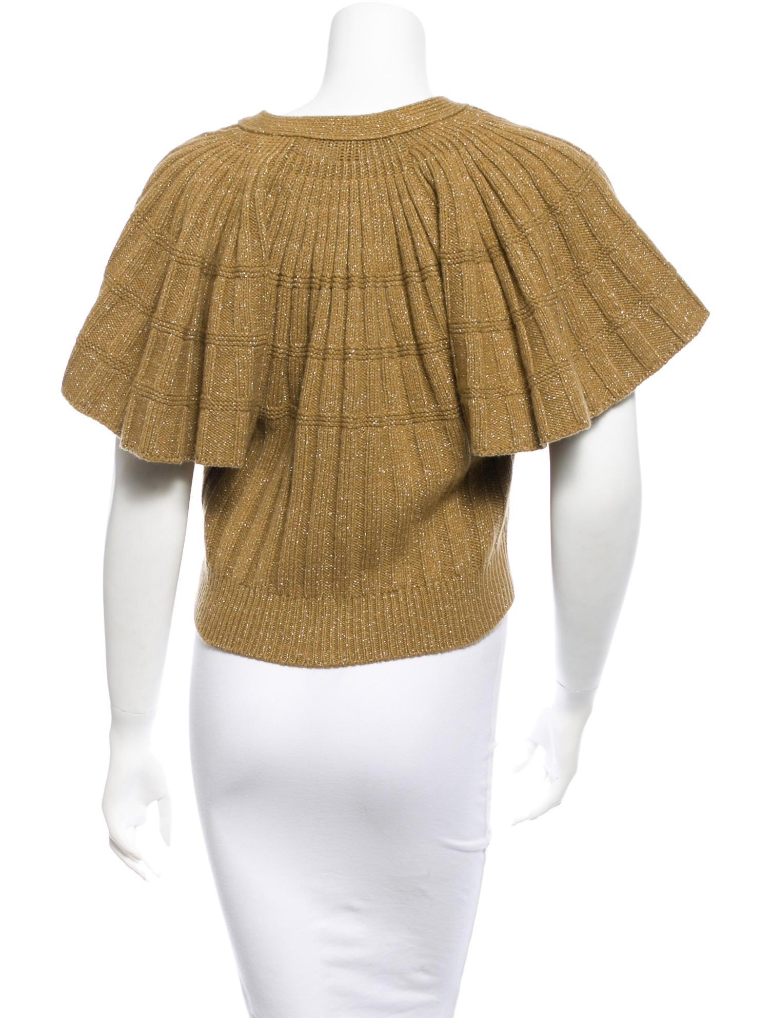 Wool Cropped Cardigan 15