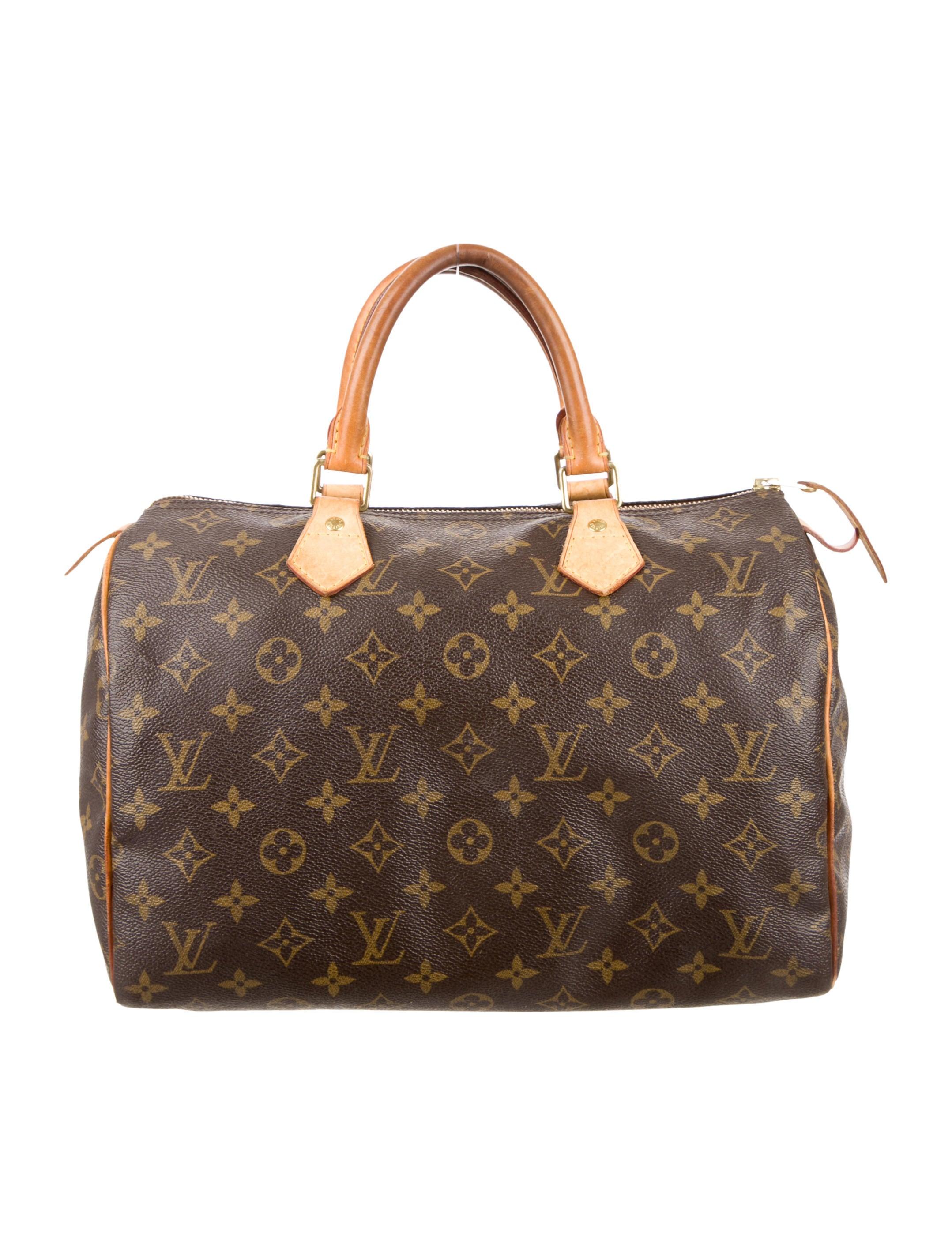 louis vuitton monogram speedy 30 handbags lou65454 the realreal. Black Bedroom Furniture Sets. Home Design Ideas