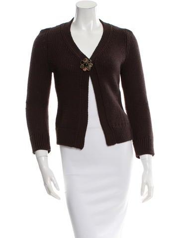 Louis Vuitton Wool Embellished Cardigan None