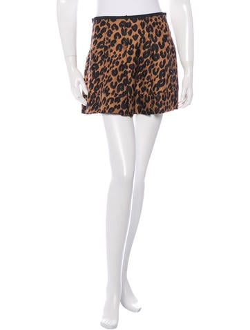 Louis Vuitton Leopard Print Silk Skirt
