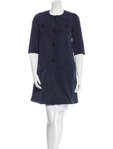 Louis Vuitton Button-Up Knee-Length Coat