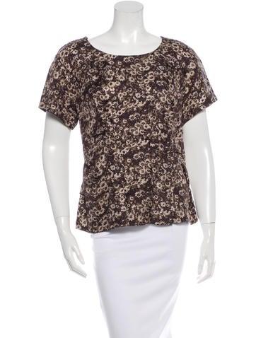 Louis Vuitton Floral Silk Top None