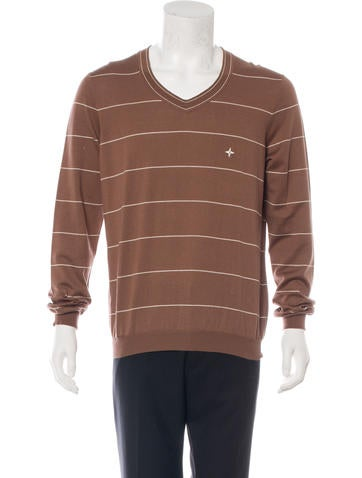 Louis Vuitton Embroidered Striped Sweater None